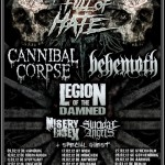 Full of Hate 2012 mit Cannibal Corpse, Behemoth, Legion of the Damned, Misery Index (Garage, Saarbrücken)