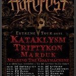 Hatefest 2011 mit Kataklysm, Triptykon, Marduk, Milking the Goatmachine, Azarath, Dawn of Disease (Garage, Saarbrücken)